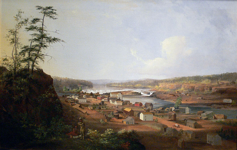 John Mix Stanley,  Oregon City on the Willamette River . 1850-52