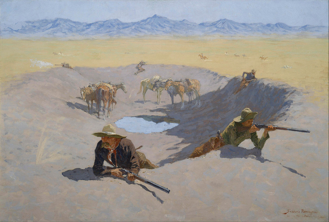 Frederic Remington.     Fight for the Water Hole , 1903