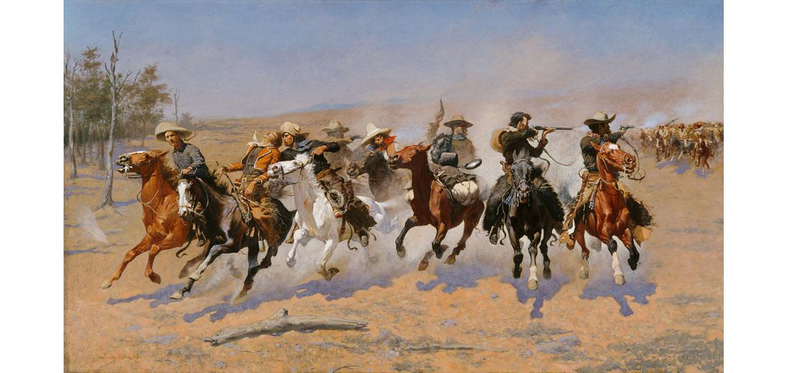 Frederic Remington,  A Dash For Timber