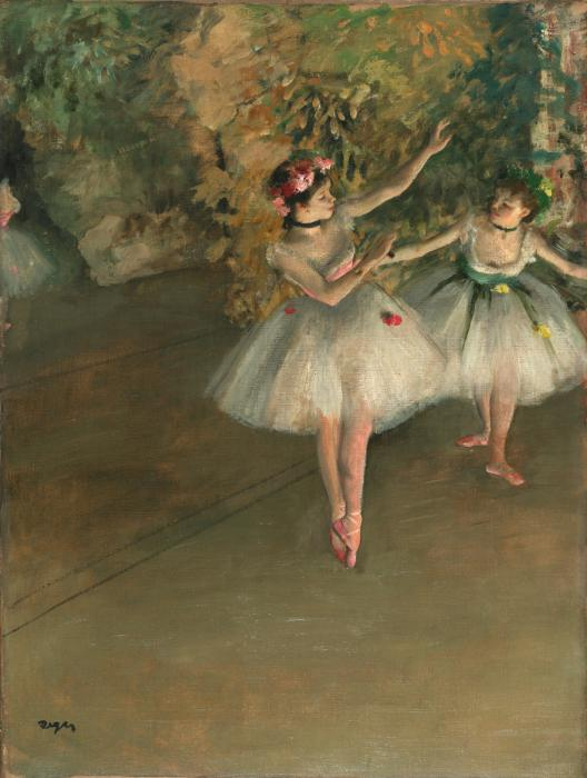 Edgar Degas,  Two Dancers on a Stage , 1874