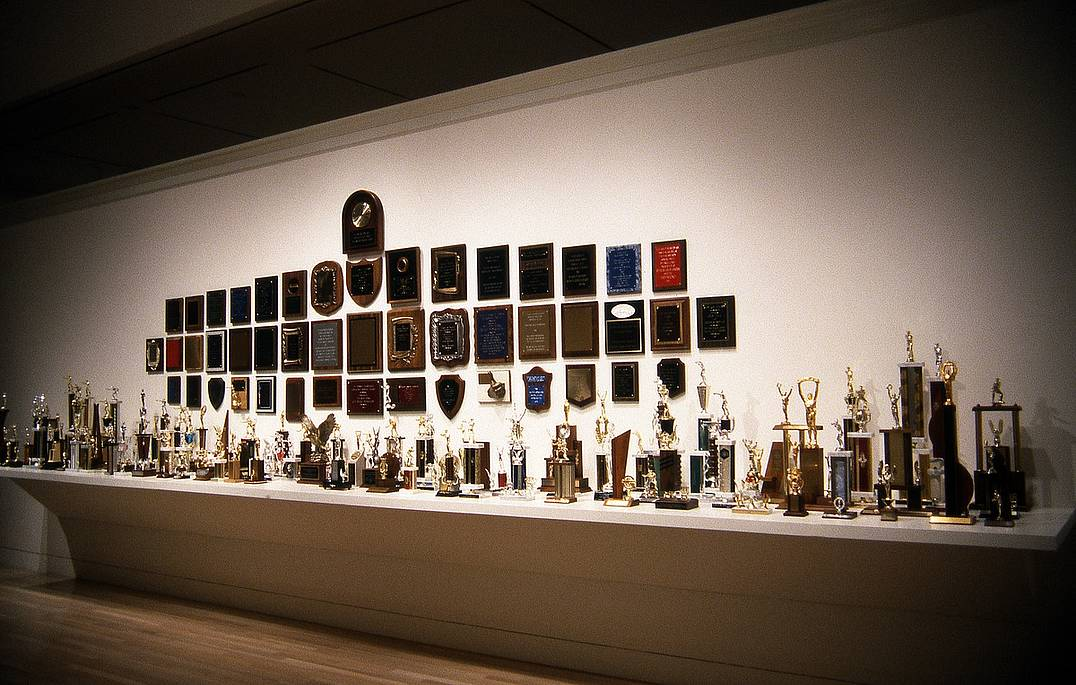 Carl Pope,  Some of the Greatest Hits of the New York City Police Department: A Celebration of Meritorious Achievement in Community Service,  1994  (Installation shot when this piece was at the Hammer Museum)