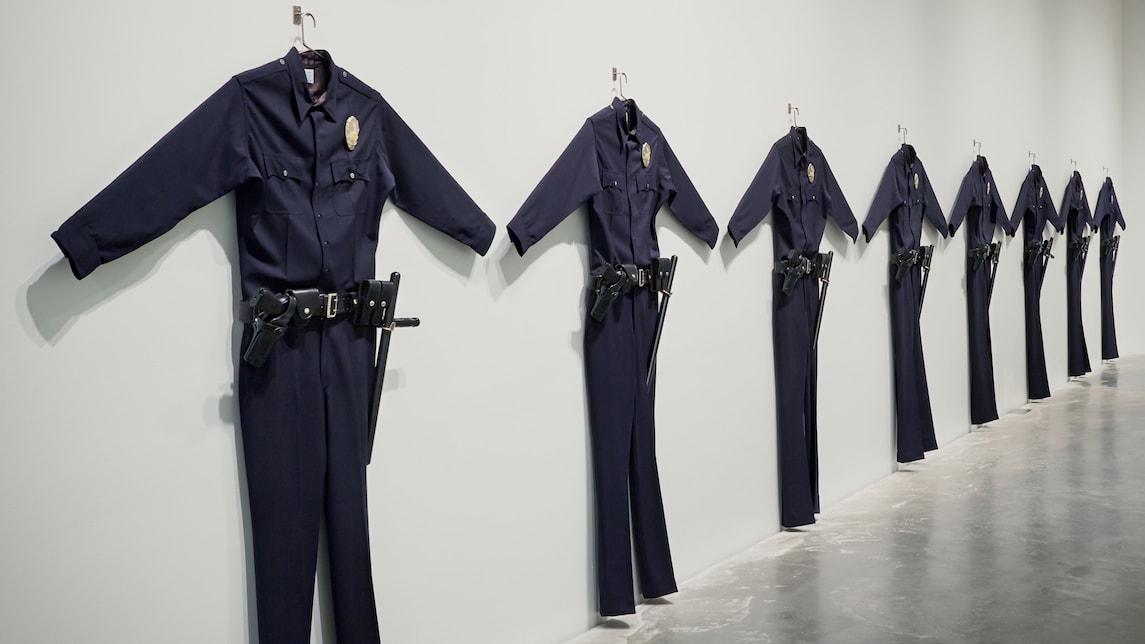 Chris Burden,  L.A.P.D. Uniform , 1993, Installation art