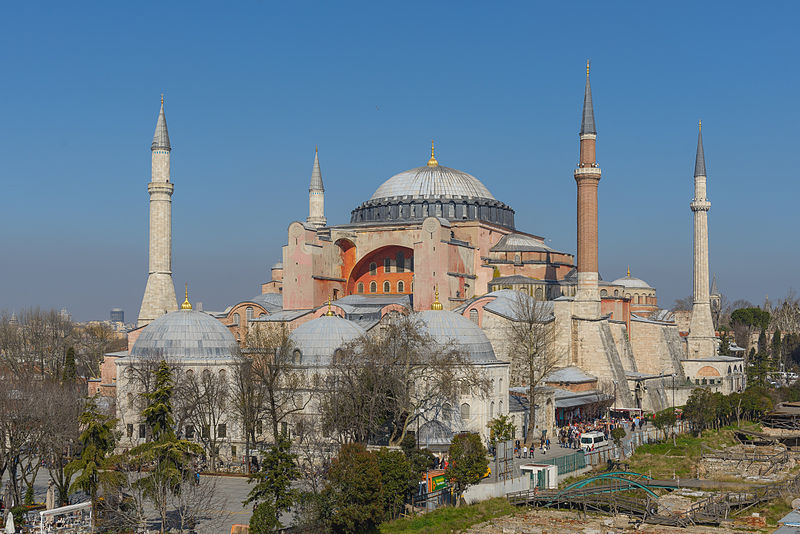 Hagia Sophia (Church of the Holy Wisdom) , located in Istanbul, Turkey