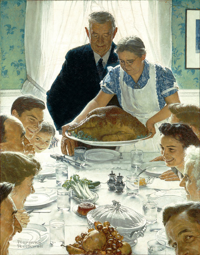 Norman Rockwell,  Freedom from Want , 1941-43