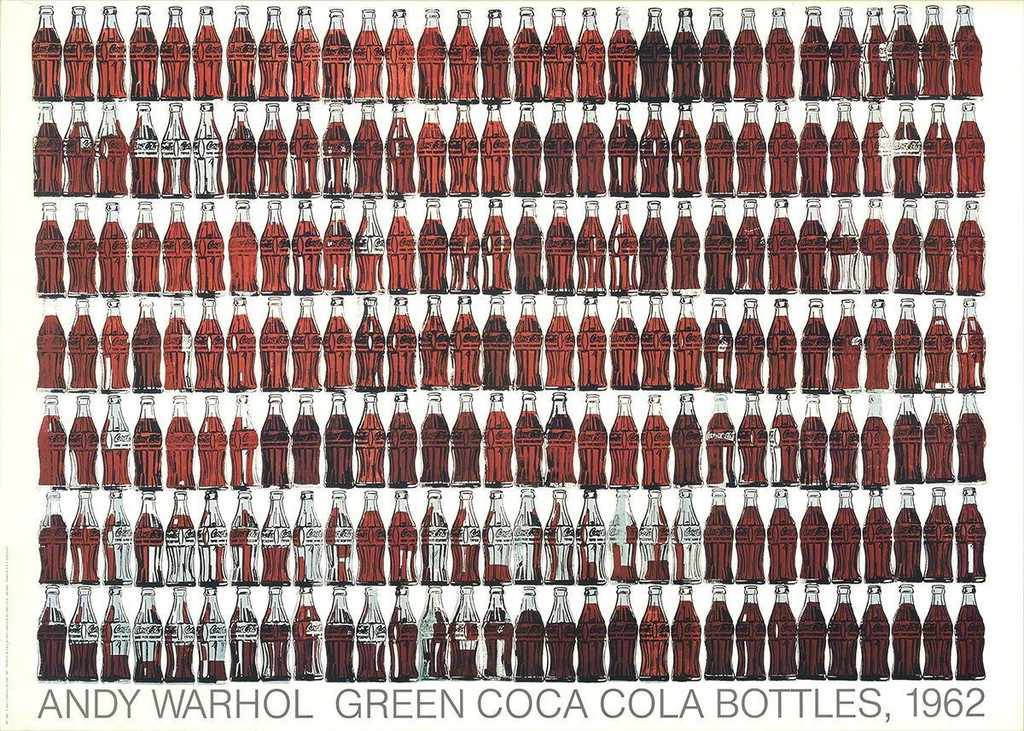Andy Warhol,  Green Coca Cola Bottles , 1962