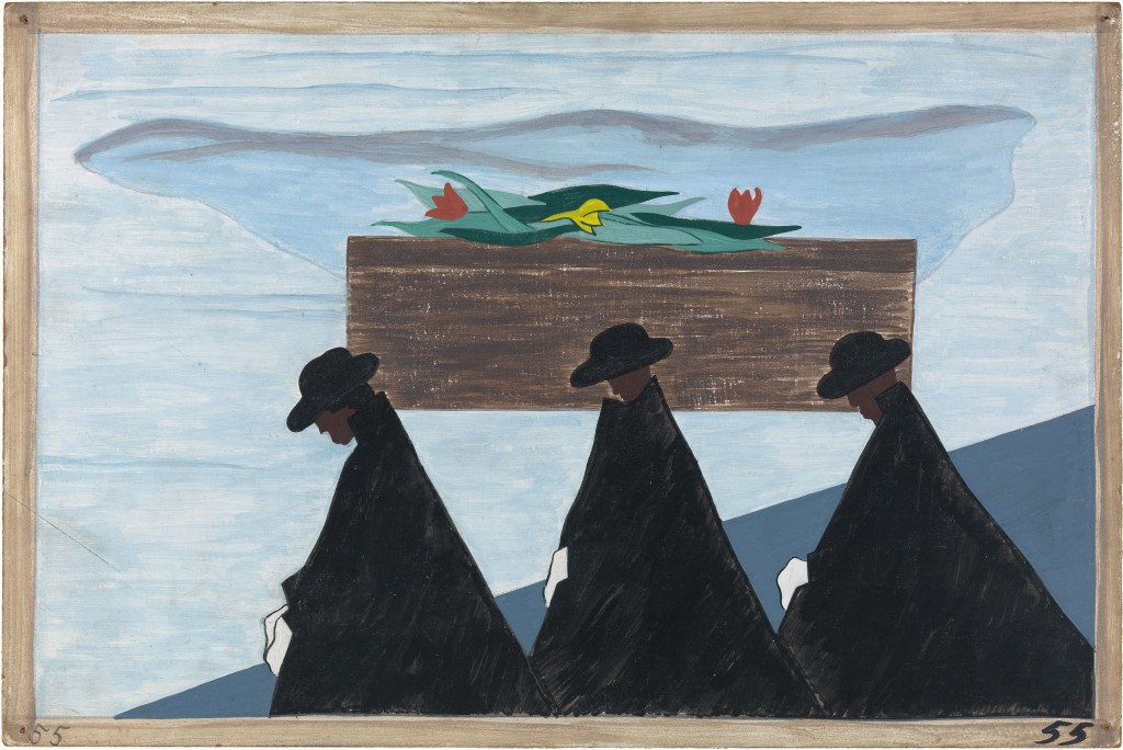 Jacob Lawrence,  Panel 55 - Great Migration Series , 1941