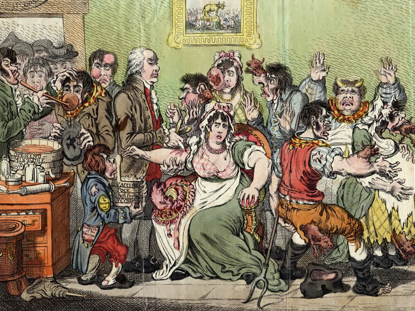 James Gillray, 1802. The fear of vaccination.