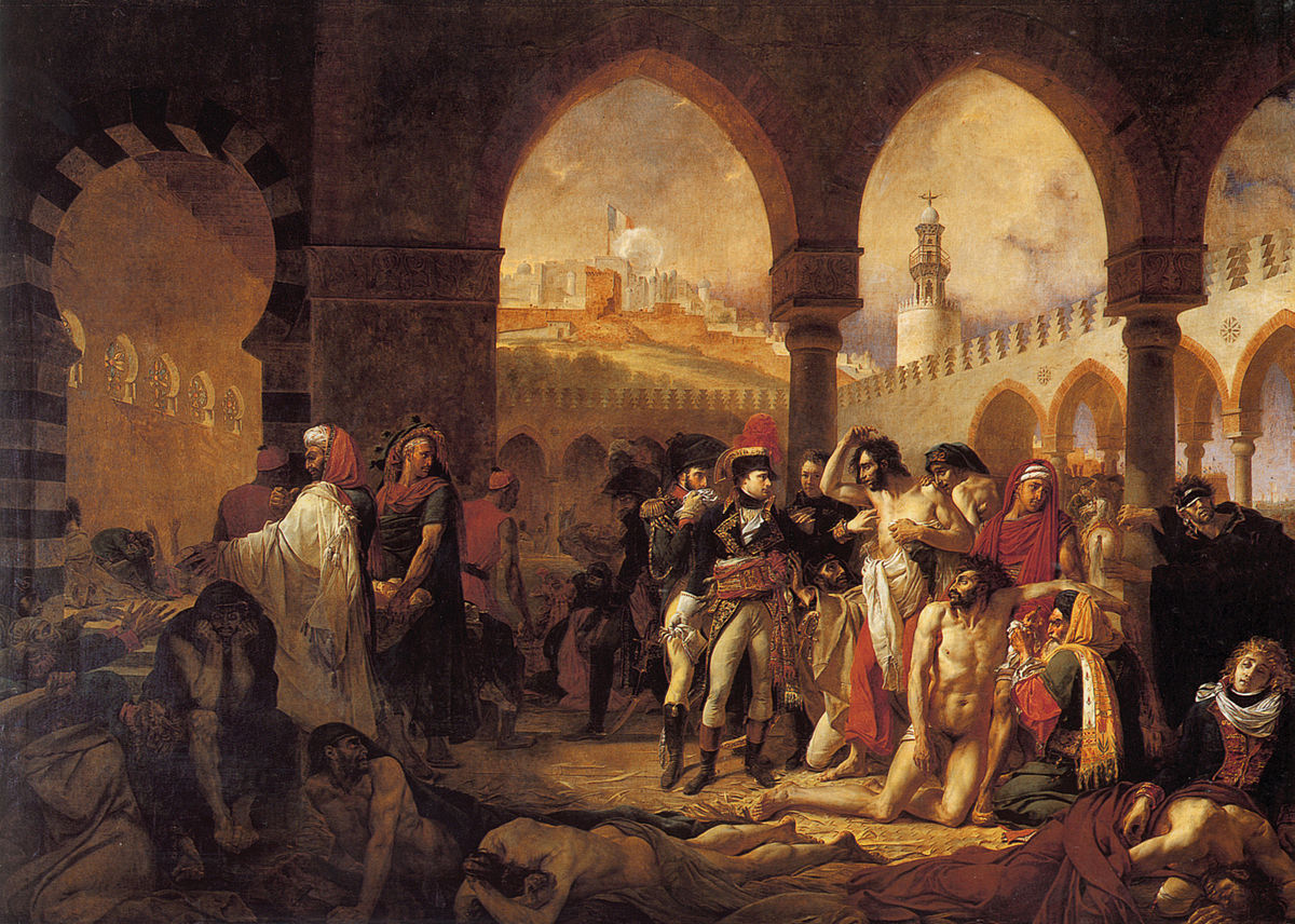 Antoine-Jean Gros,  Napoleon Visiting the Plague Stricken in Jaffa , 1804, oil on canvas