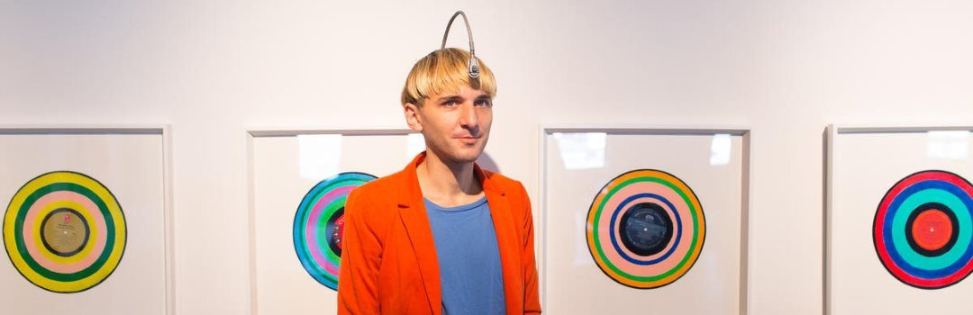 Neil Harbisson, his antenna, and his artwork
