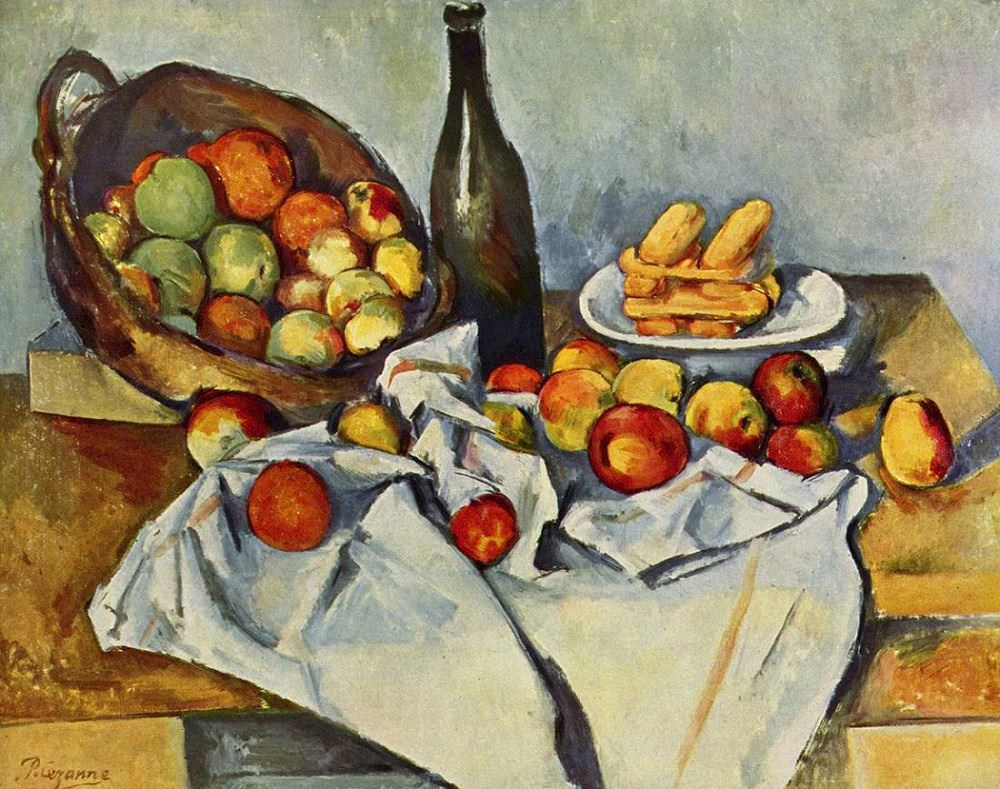 Paul Cezanne,  Still Life with Basket of Apples , 1890-94