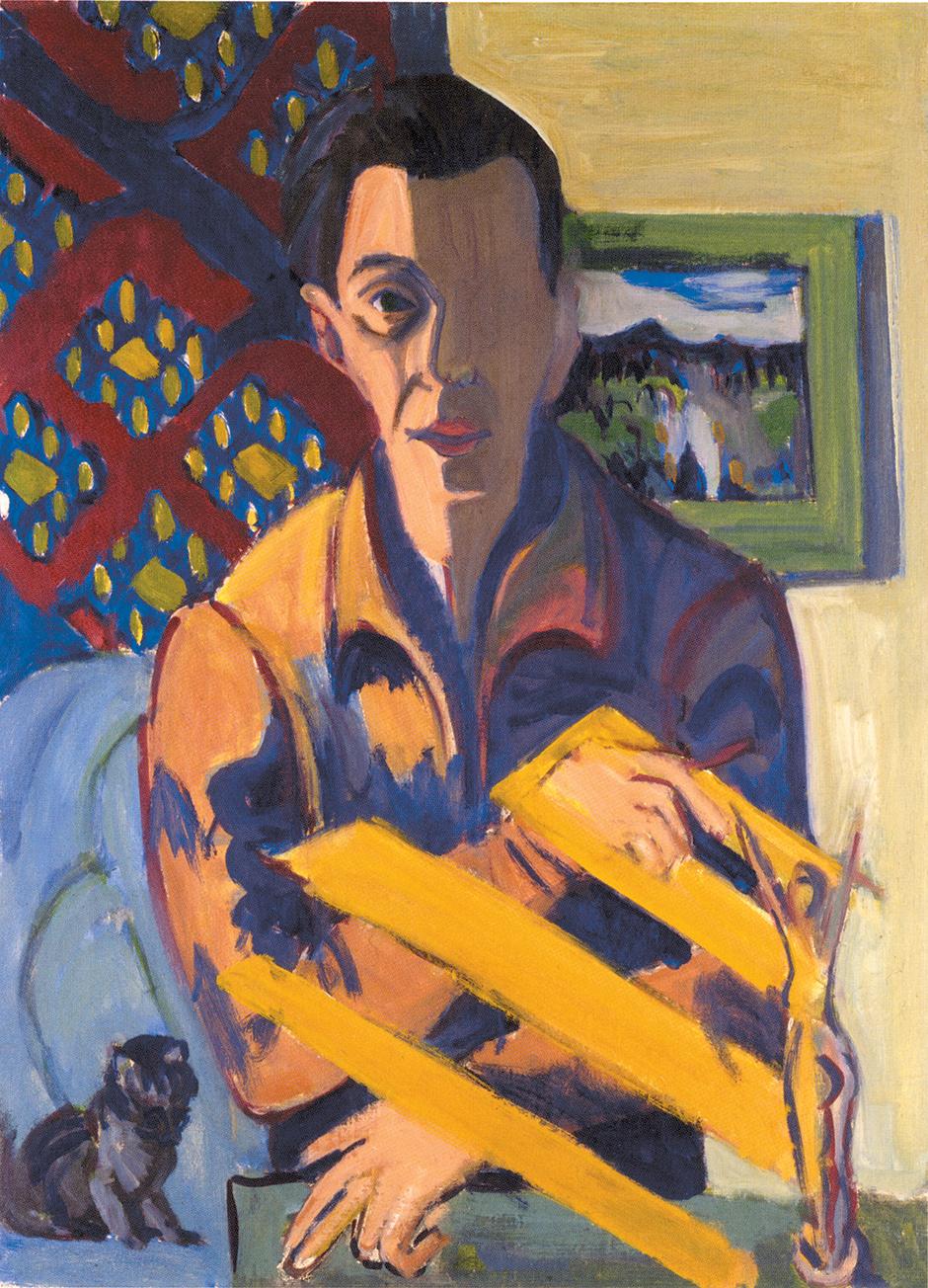 Ernst Ludwig Kirchner,  Self-Portrait , 1937