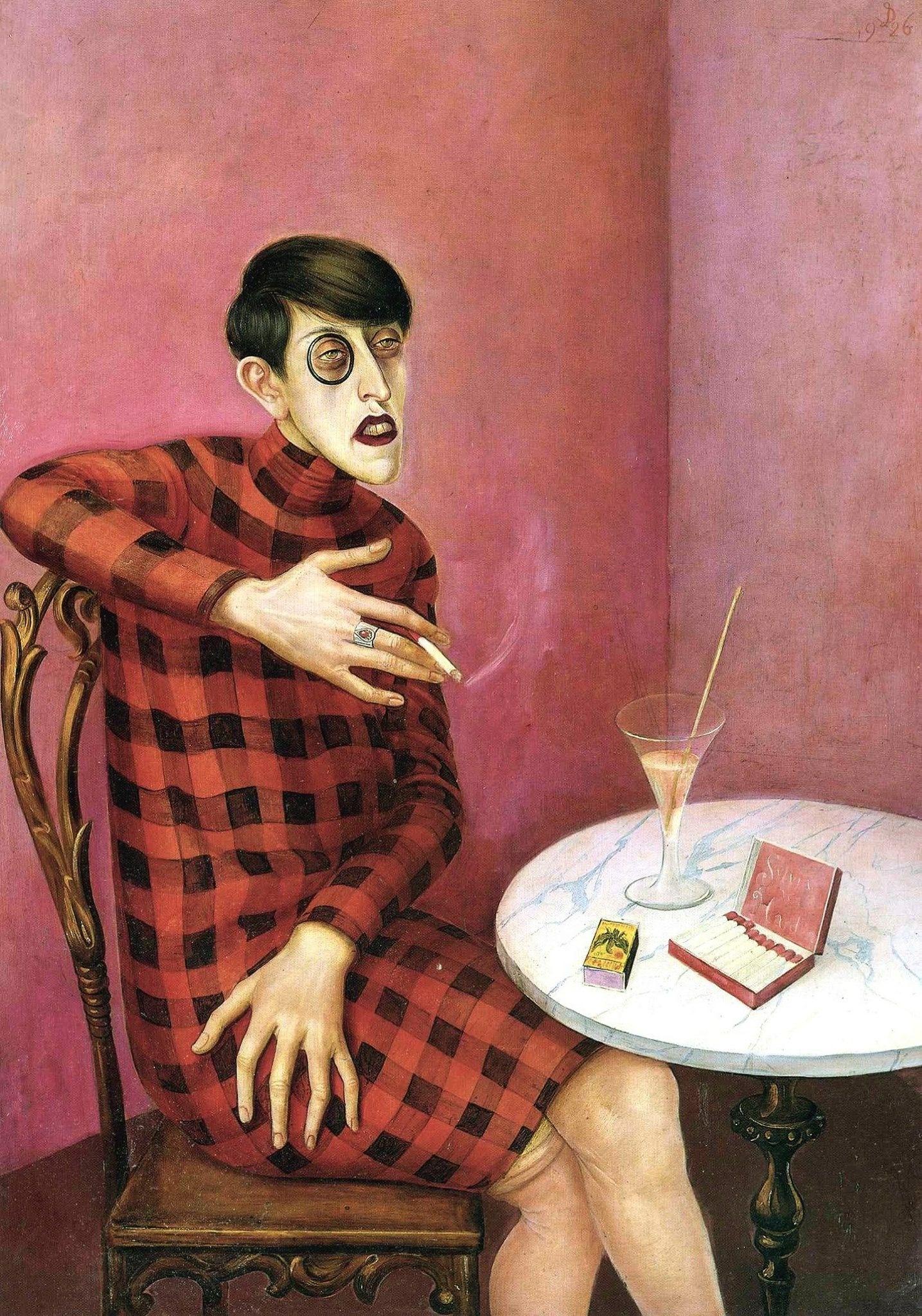 Otto Dix,  Portrait of the Journalist Sylvia von Harden , 1926