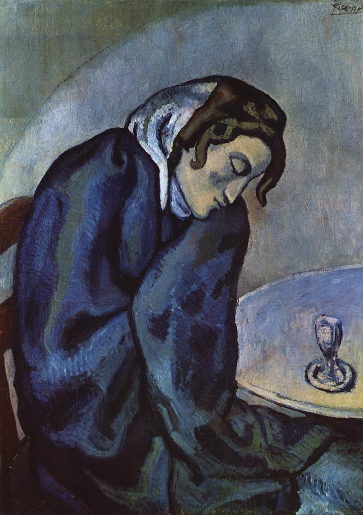 Pablo Picasso,  The Absinthe Drinker , 1902, oil on canvas.