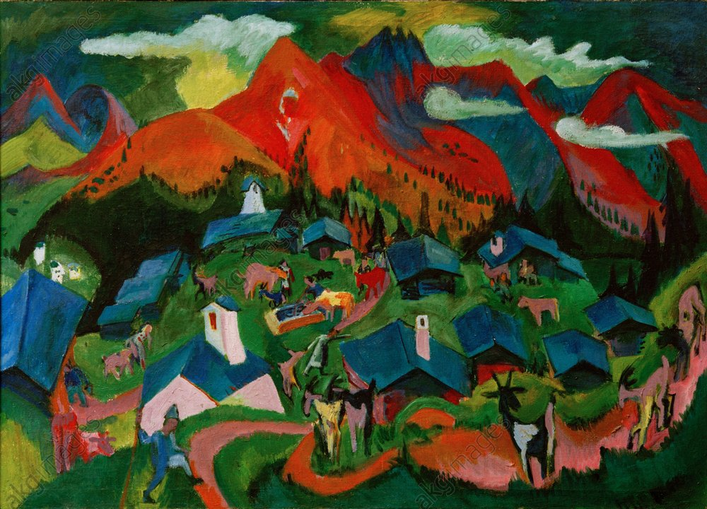Ernst Ludwig Kirchner,  Return of the Animals , 1919, oil on canvas.