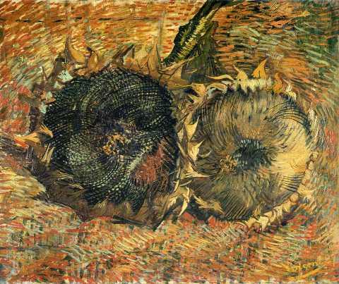 Vincent van Gogh,  Sunflowers , 1887, oil on canvas.