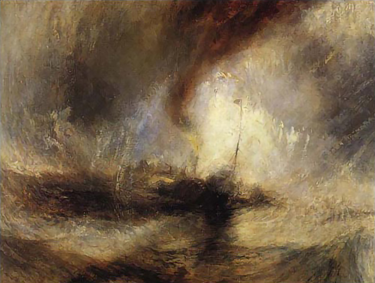 JMW Turner, Steamer in a Snowstorm