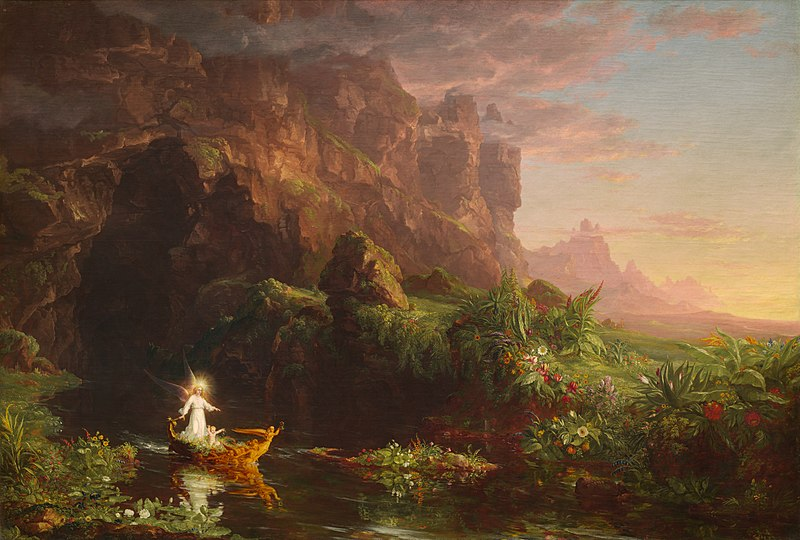 Thomas Cole,  Childhood , one of the four scenes in  The Voyage of Life , 1842