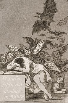 Francisco Goya, The Sleep of Reason Produces Monsters, 1799