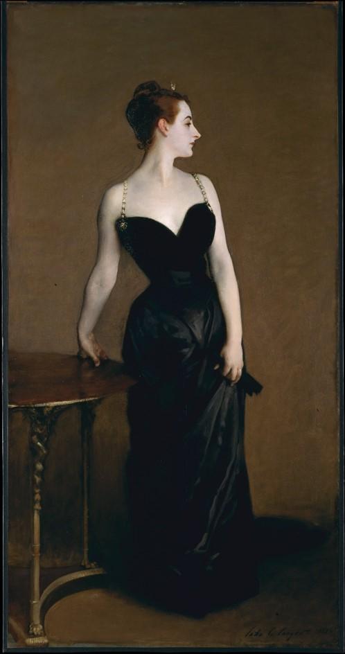 John Signer Sargent,  Madame X , 1882-84, oil on canvas, 82 1/8 x 43 1/4 in, Metropolitan Museum of Art