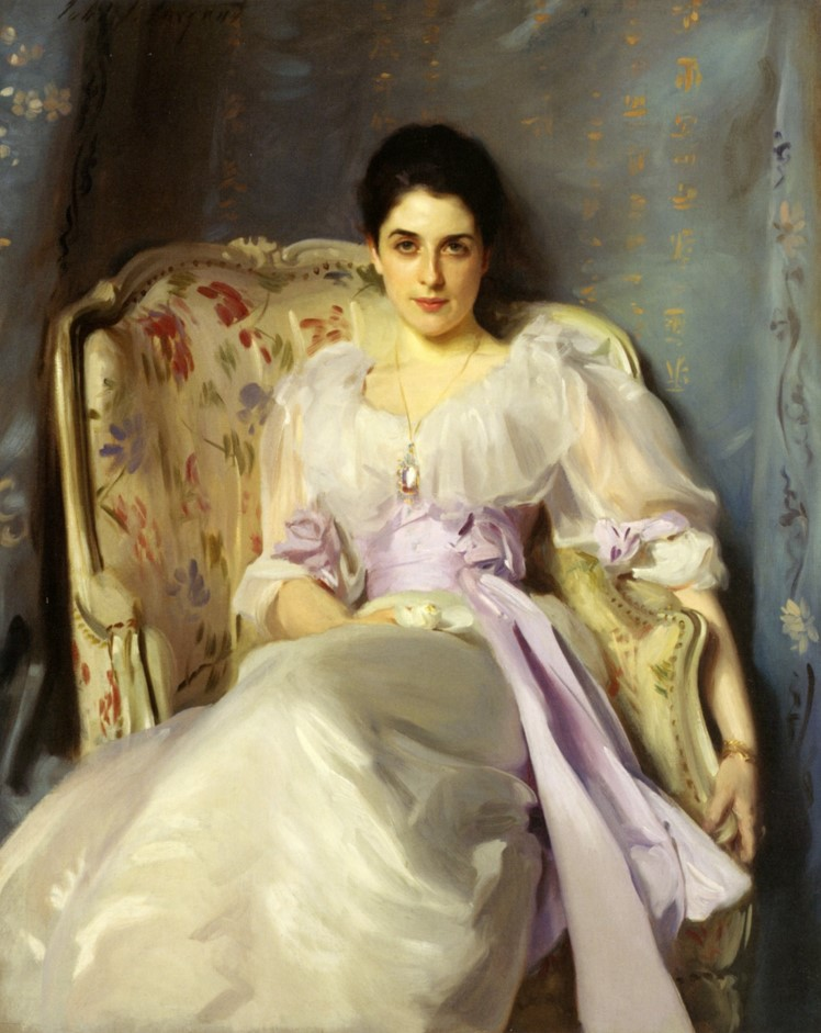 John Singer Sargent,  Lady Agnew of Lochnaw , 1892, oil on canvas, 50 x 40 in., National Galleries Scotland.