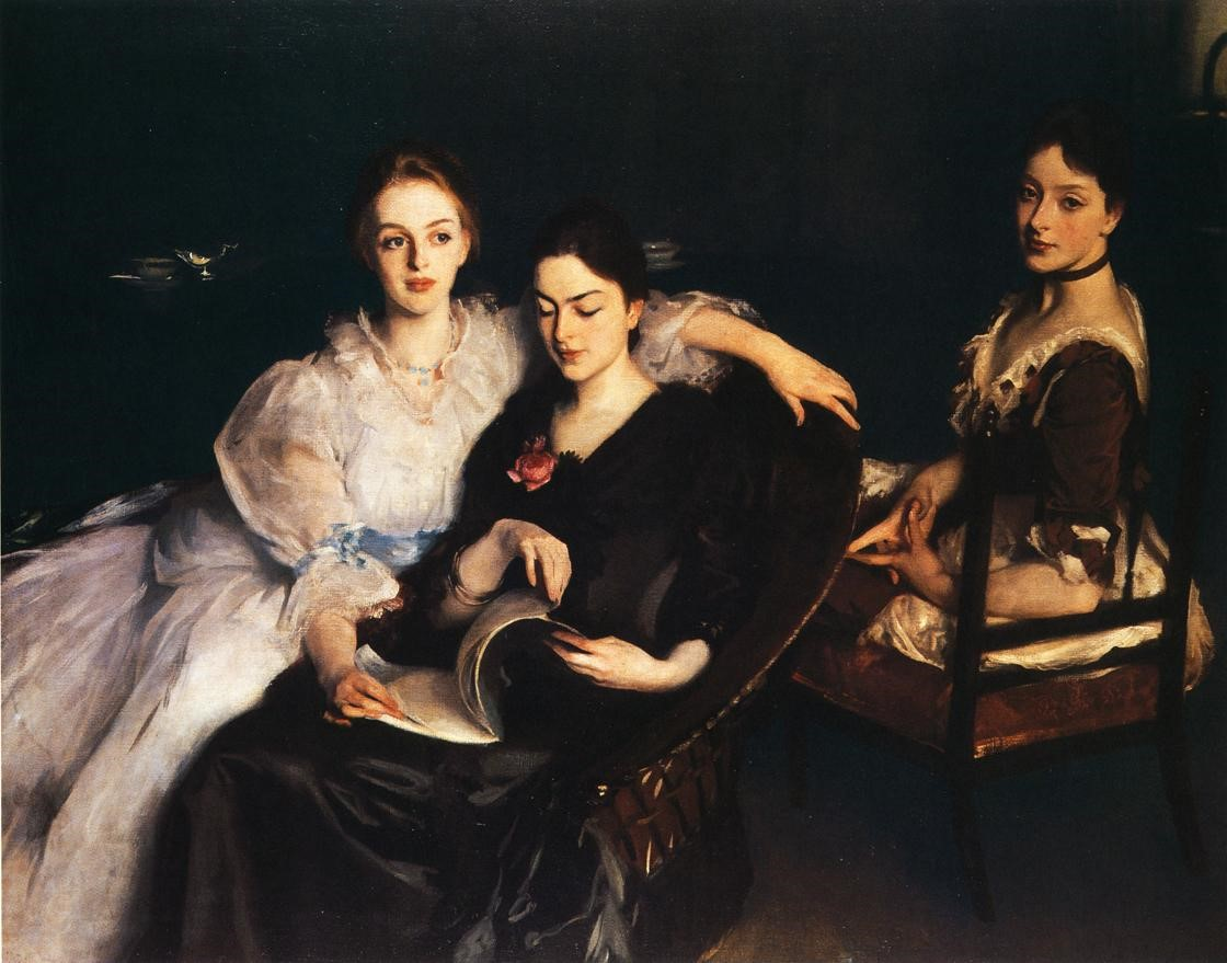 John Singer Sargent, The Misses Vickers, 1884, oil on canvas, 54 1/4 x 72 in.