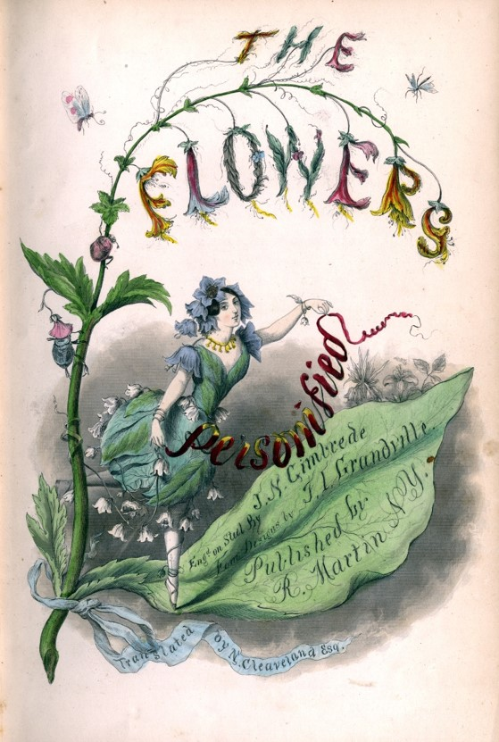 Grandville, The Flower's Personified, 1844. Cover.