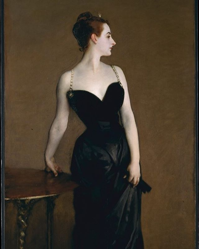 There's a new blog post up! I look at two society portraits by John Singer Sargent, Madame X and Lady Agnew of Lochnaw, as examples of the artist addressing nineteenth-century illness and the social movement of the New Woman. By doing so he allows his sitters to empower themselves and reclaim their bodies from the patriarchal system.  Read through this tomb if you want to learn more about Sargent's background in society portraits, the symbolism of flowers in female portraiture, and the rest cure. You might need a nap by the end. Link to the website in bio.  Images - 1) John Signer Sargent, Madame X, 1882-84, oil on canvas, 82 1/8 x 43 1/4 in, Metropolitan Museum of Art 2) John Singer Sargent, Lady Agnew of Lochnaw, 1892, oil on canvas, 50 x 40 in., National Galleries Scotland.
