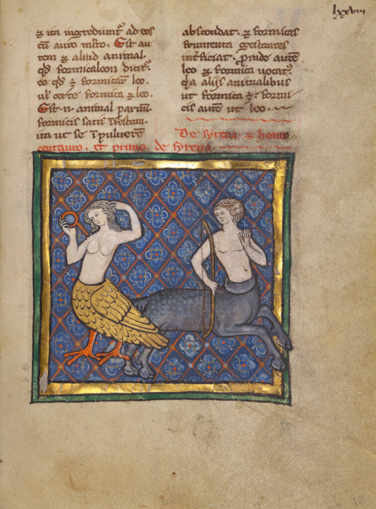 Unknown, A Siren and a Centaur, about 1270, Franco-Flemish