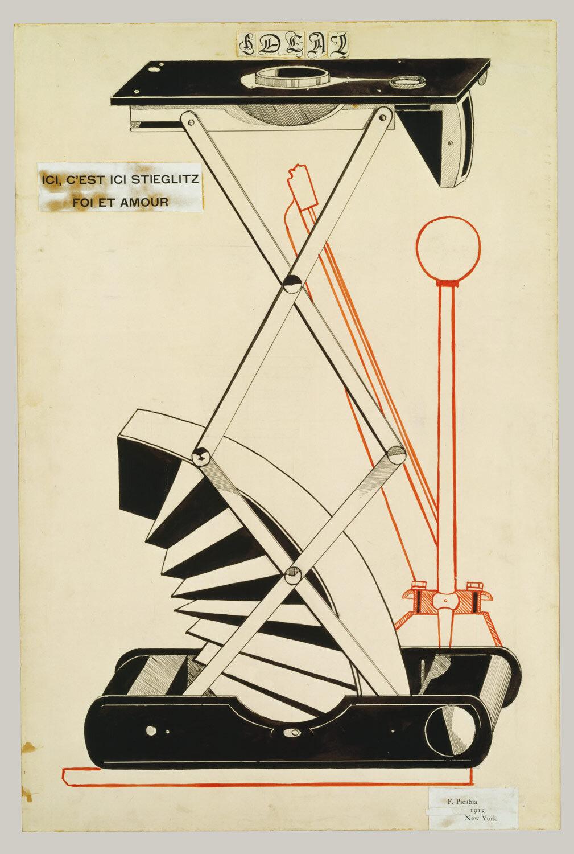Marcel Duchamp, Here, This is Stieglitz Here, 1915