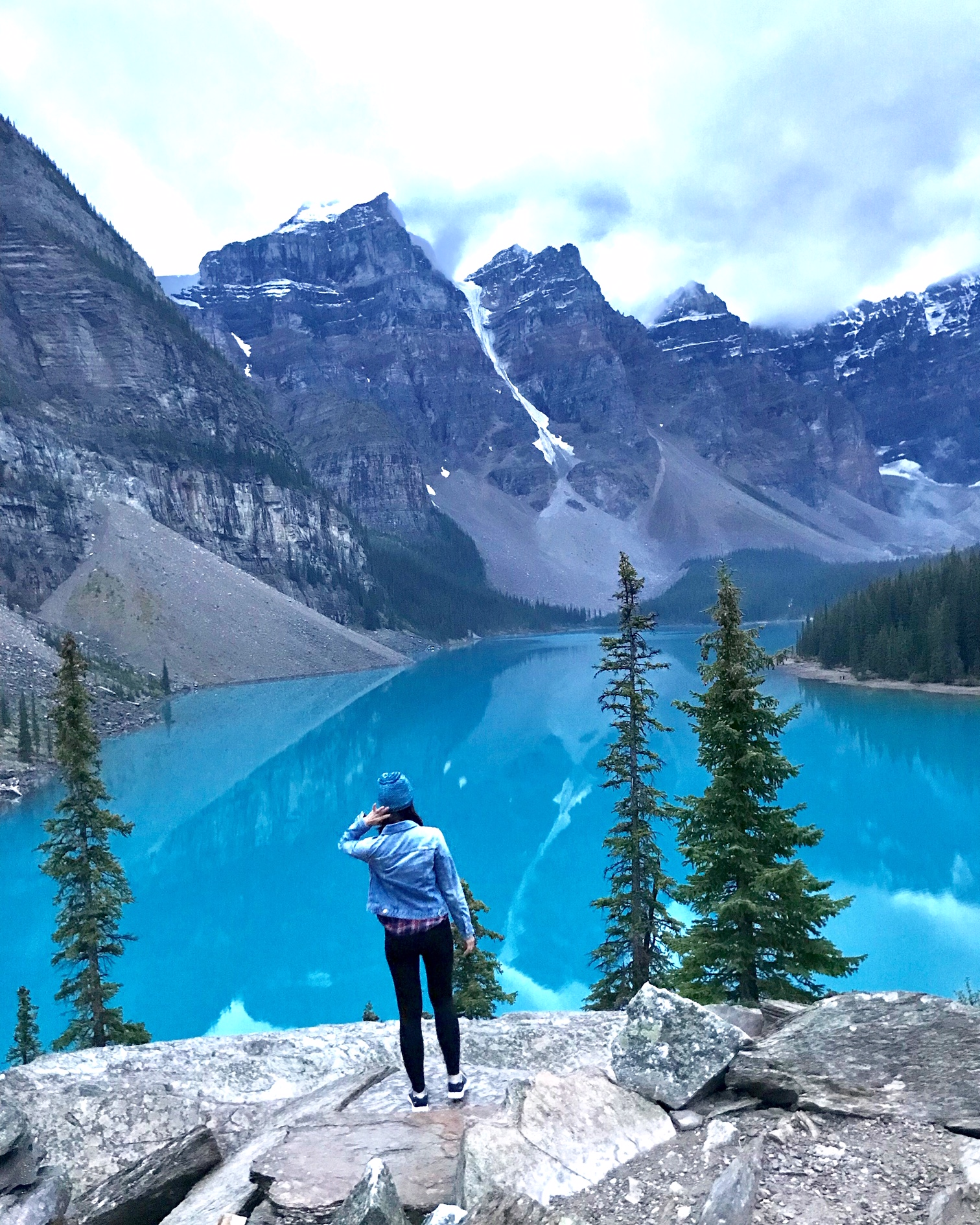 Moraine Lake: This view requires a very small hike to the top of the mountain to the left as you enter the parking lot.