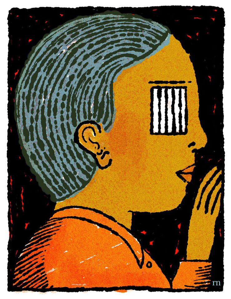 Chicago Tribune, David Syrek, AD. Solitary confinement for kids... Anyone remember Bascove? Reminds me of her. Did a million fat line bookcovers in the 70's...