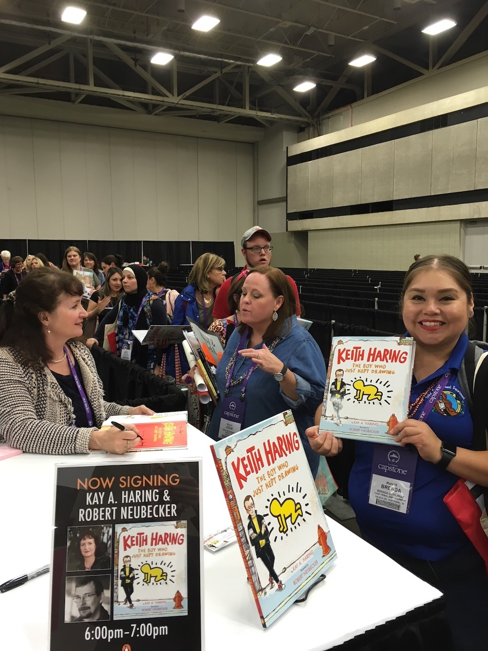 Another big line for signing on the convention floor. Thanks to Kay and Penguin Random House, the TLA and all those Texas librarians!