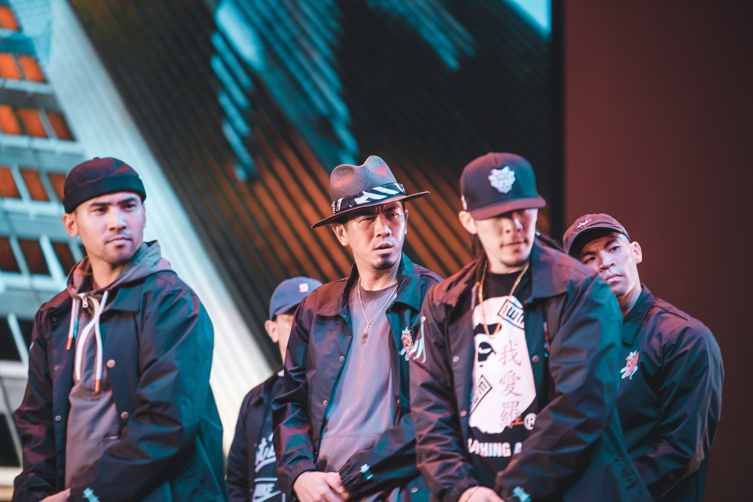 The [KINJAZ] onstage at Arena LA 2019