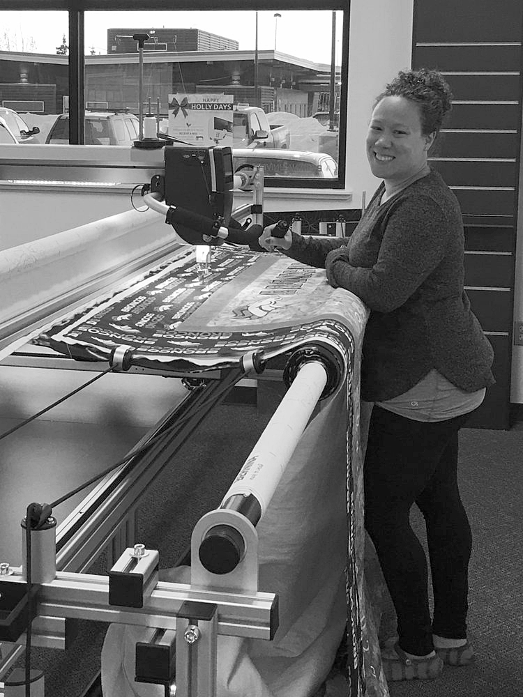 I have been a machine quilting addict since 2010 and have enjoyed longarm quilting the last few years on the Bernina Q24!