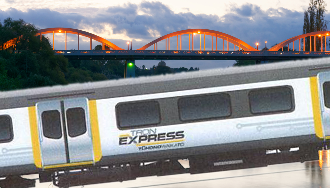 """(Photo credit: Getty/Dave Macpherson/Hamilton City Council -    Newshub   )    While we're on the topic… Please, someone has GOT TO STOP this thing being dubbed """"TronExpress."""" Literally every other name suggestion is better than this…"""