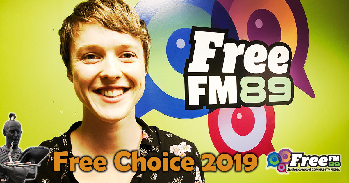 Click the image to listen to Sarah's 15-minute radio interview on Free FM's Free Choice show.