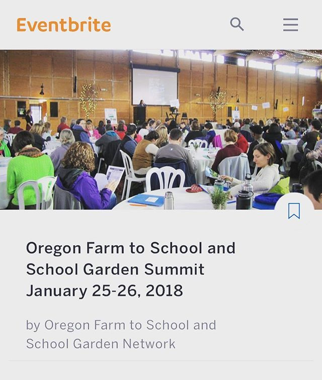 It's not too late to register for the Oregon Farm to School Summit! This is a fantastic opportunity to connect with other farm to school and school garden stakeholders! 🤝👩🏻‍🌾 This will be a two day conference with workshops, speakers, resources and networking opportunities.  Thursday January 25th will be focused on farm and garden based education.  Friday January 26th will be focused on incorporating local food into school meals.  You may register for one day or both days👉 https://www.eventbrite.com/e/oregon
