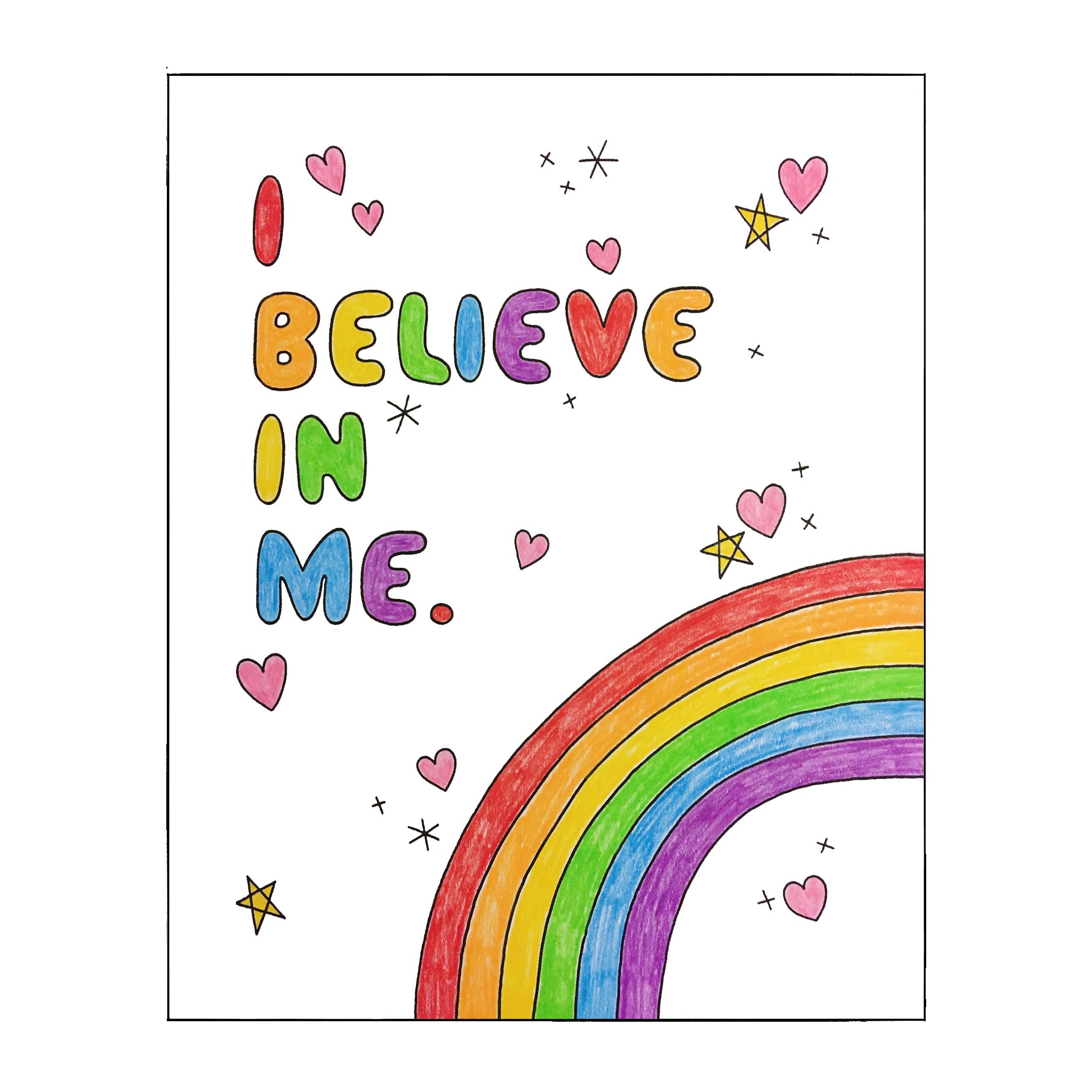 i believe in me PRINT