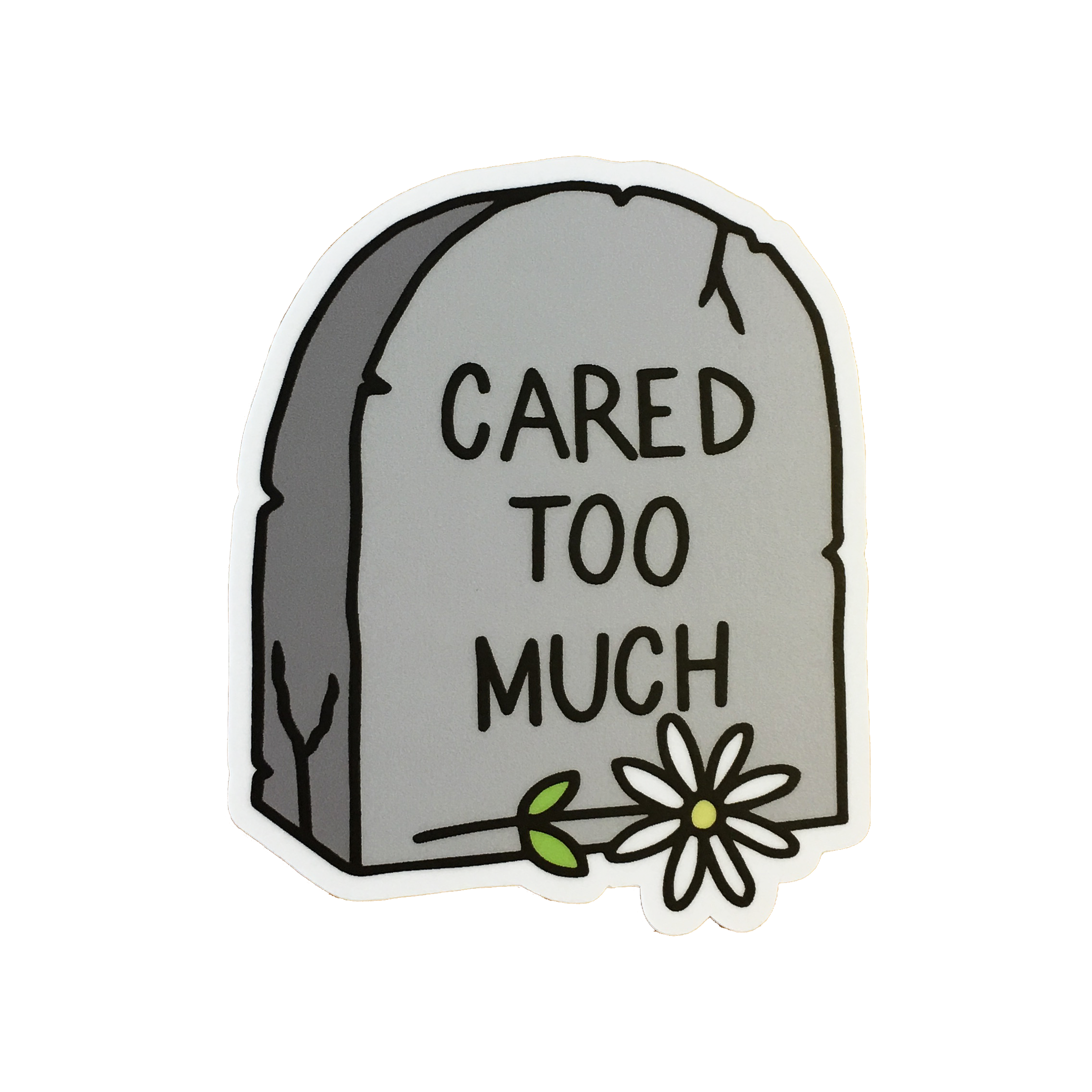 cared too much STICKER