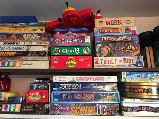 Here is the Chatfield HQ board game closet. Besides the #crossword-inspired Upwards, what game would you want to play? Also, listen to the Shelley Has Opinions pros and cons about Crossword Puzzles at the link in our bio!