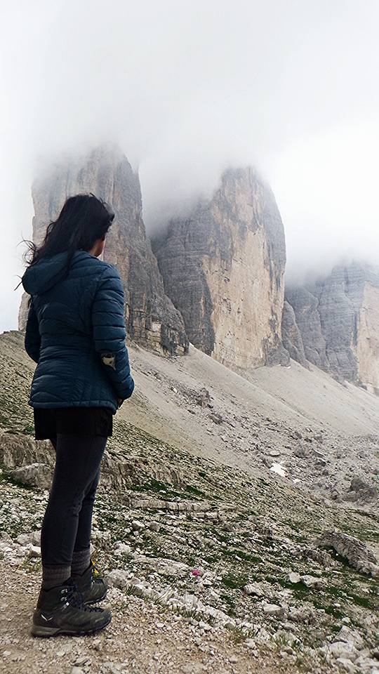 On my last day of trekking the Dolomites, I took it easy and did a day hike. My Salewa shoes performed exactly how I had to as a solo trekker in such a rocky terrain.