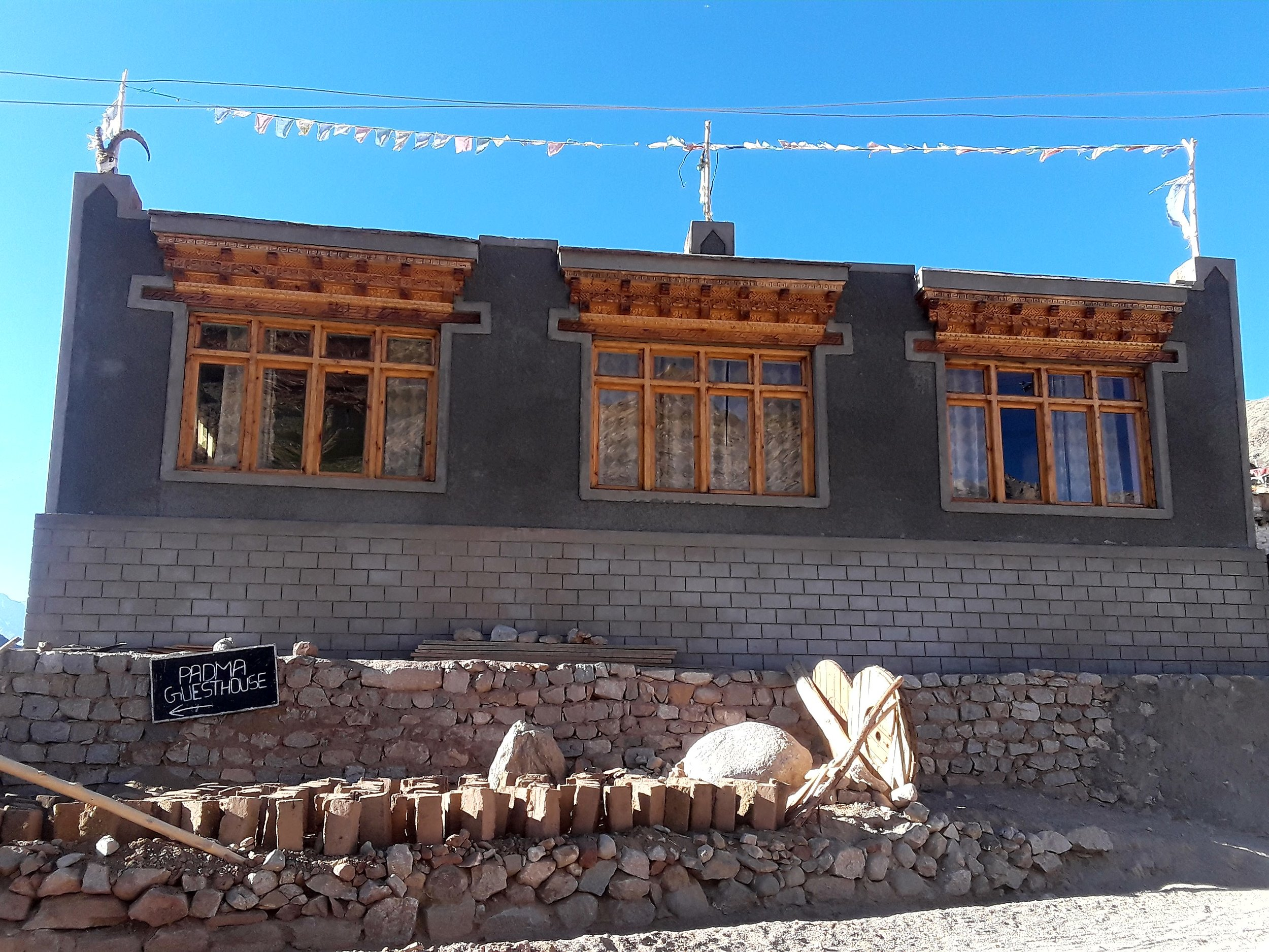 Construction of future guesthouse.