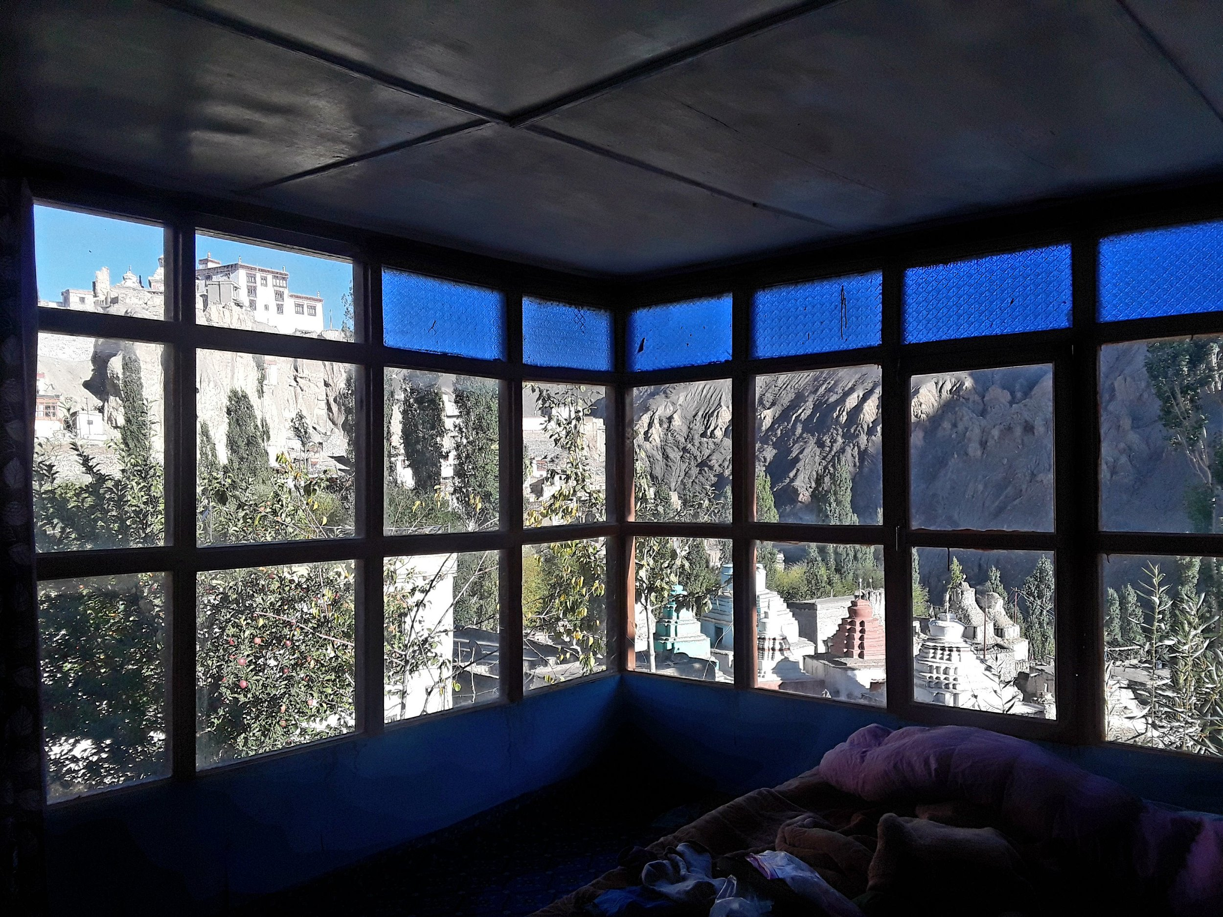 My private room had views on two sides of my wall overlooking the monastery and the town.
