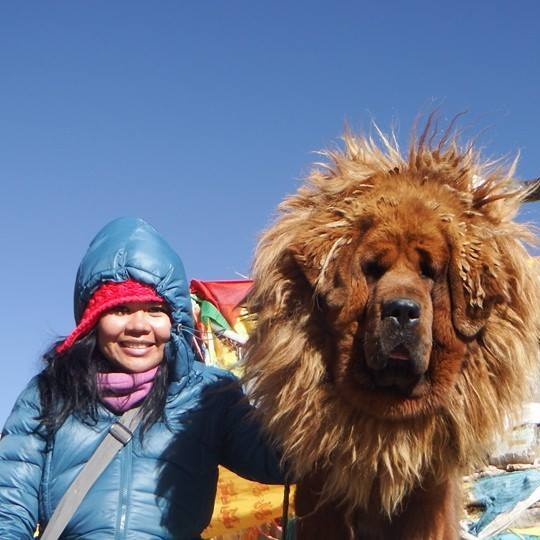 I had a vision of traveling in Tibet and felt it happen until it came true. That's where I met this guy.