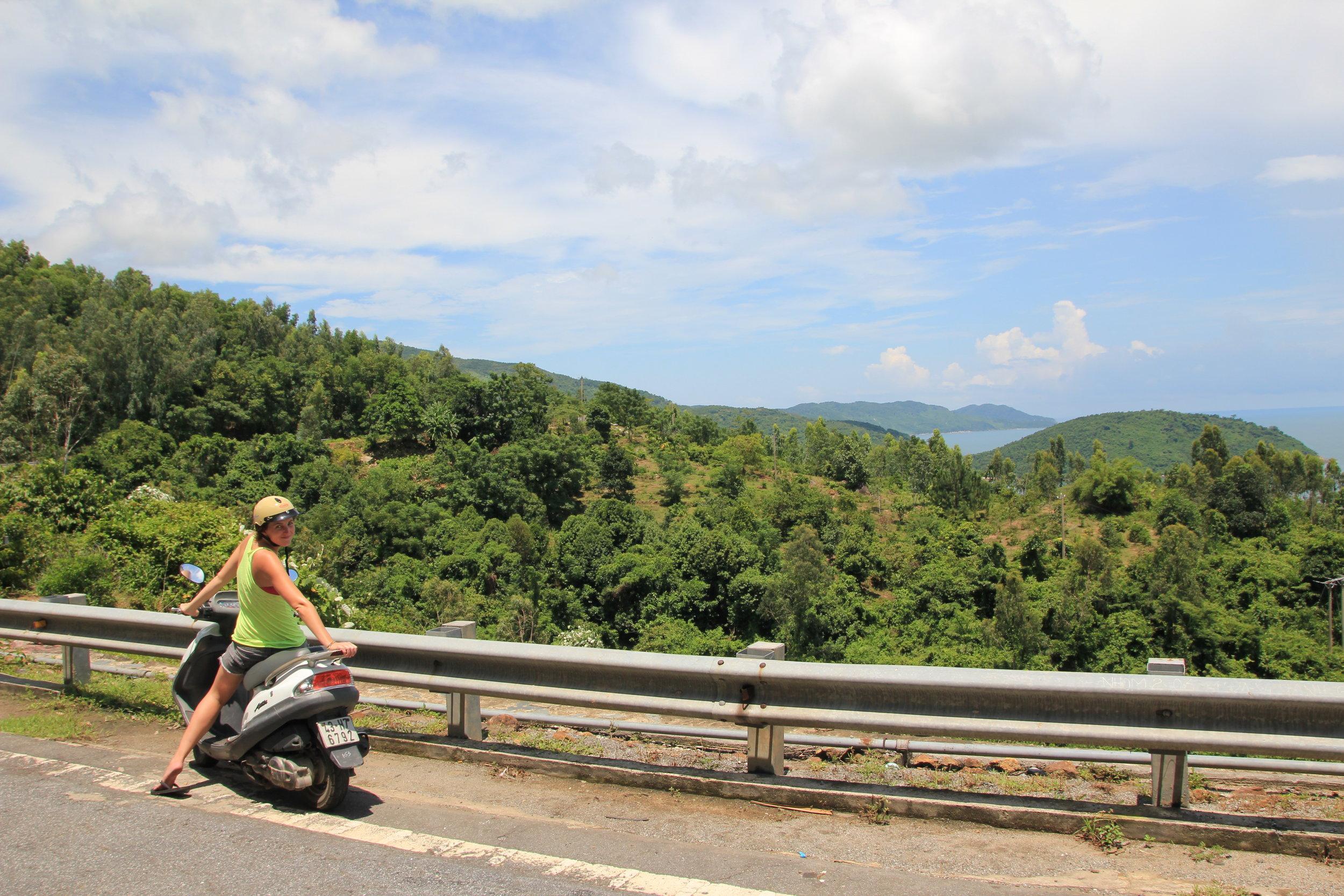 Me on my motorbike cruising the Hai Vai Van Pass in Vietnam