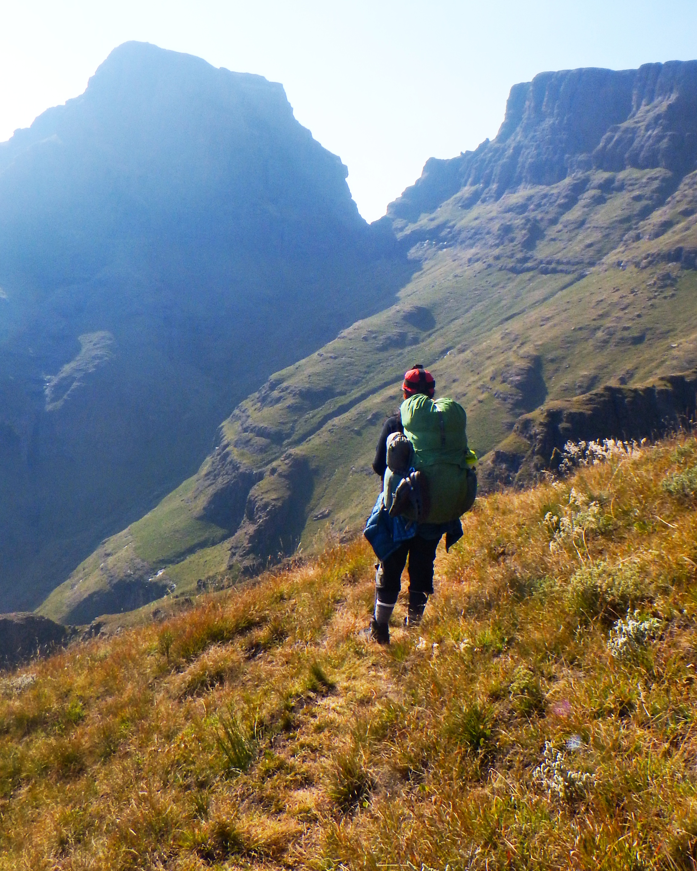 Over a 6 day trek in Drakensberg, South Africa, Go Lite was as tough as the terrain.