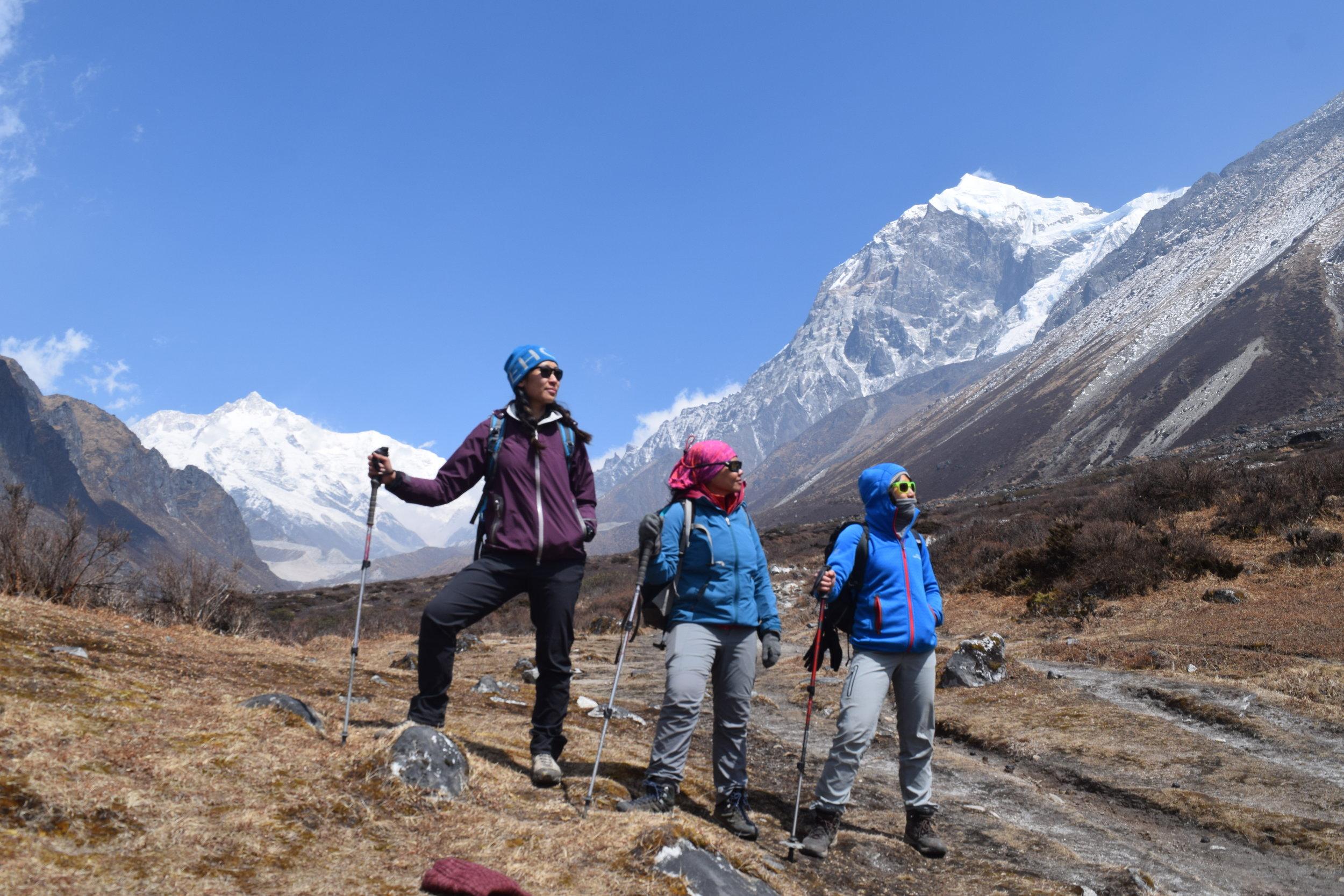 Exploring the Kanchenchunga base camp in Sikkim, India.