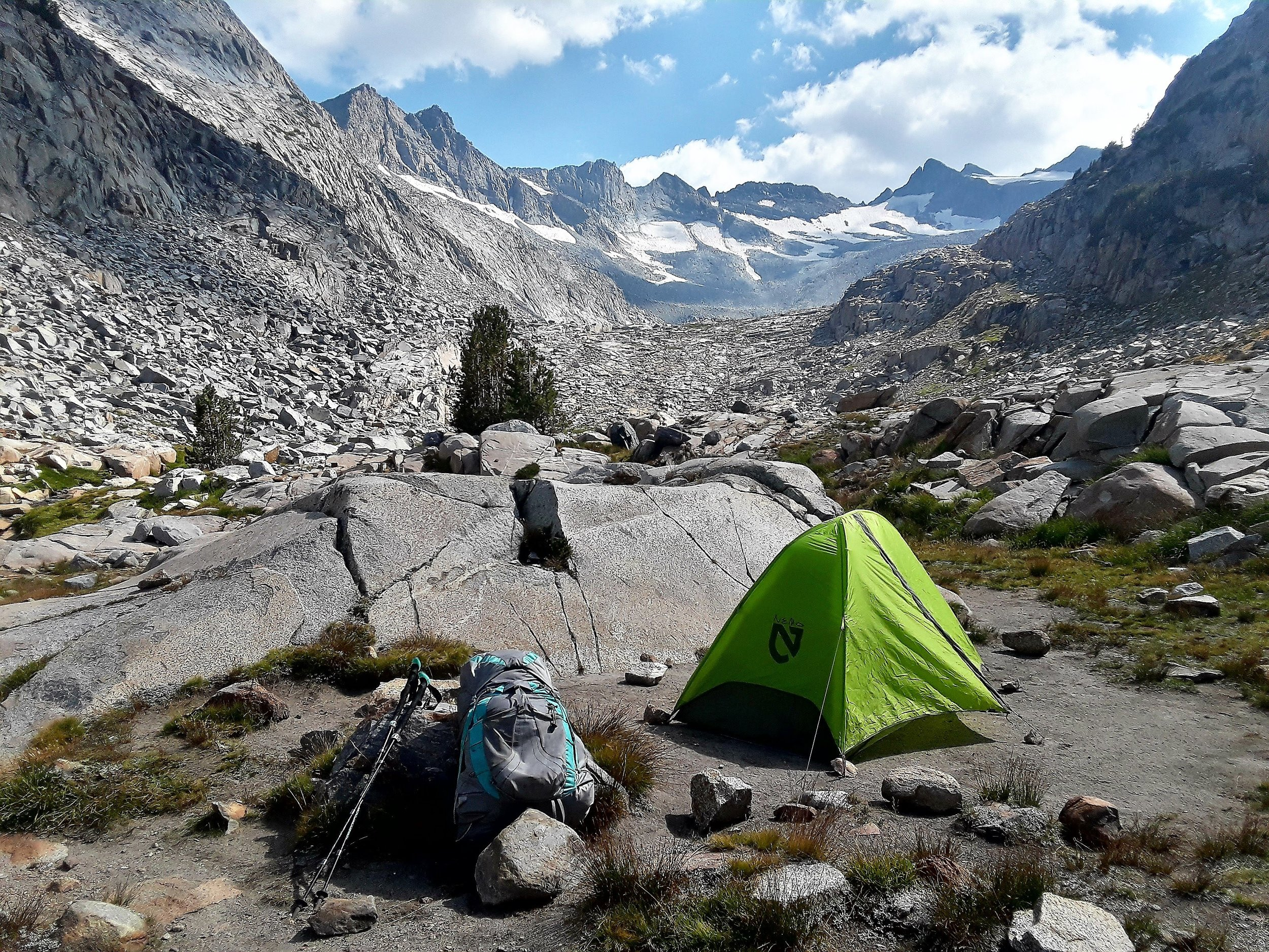 At the base of the Lyell Canyon you'll find one of my favorite campsites .