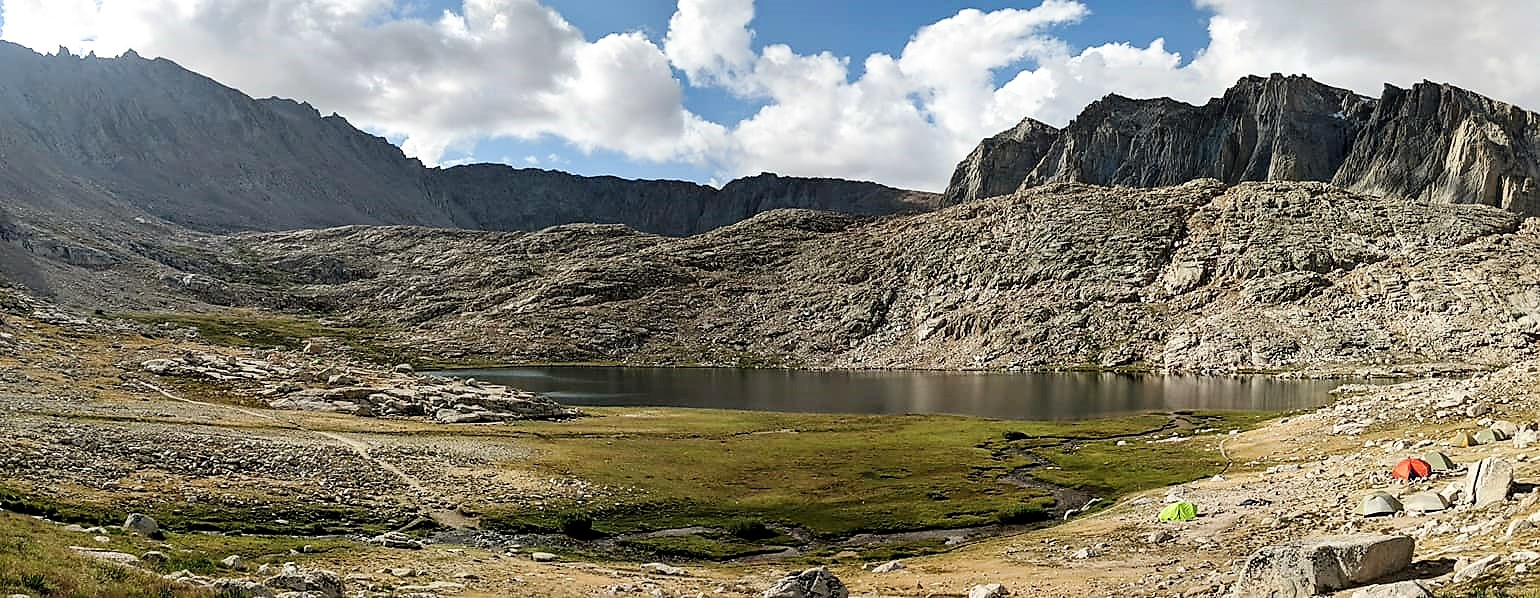 Guitar Lake is one of the best campsites on JMT.