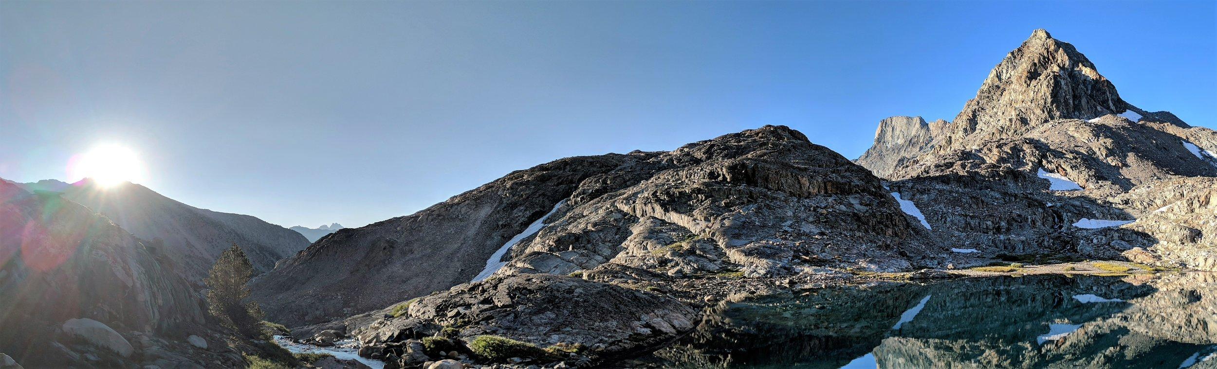 Muir peak at sunrise